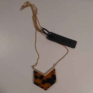J. CREW Chevron Cheetah Necklace